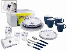 Brunner All Inclusive Blue Ocean Geschirrset, 36+1 teilig